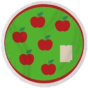 No807 My The Cider House Rules Minimal Movie Poster Round Beach Towel