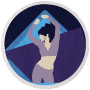 No832 My Silver Linings Playbook Minimal Movie Poster Round Beach Towel