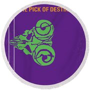 No863 My The Pick Of Destiny Minimal Movie Poster Round Beach Towel