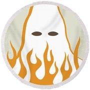 No882 My Mississippi Burning Minimal Movie Poster Round Beach Towel