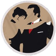 No888 My Scent Of A Woman Minimal Movie Poster Round Beach Towel