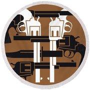 No916 My Young Guns Minimal Movie Poster Round Beach Towel