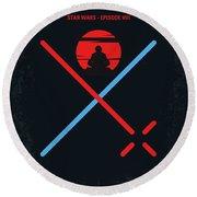 No940 My Star Wars Episode Viii The Last Jedi Minimal Movie Poster Round Beach Towel