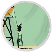No964 My Bagdad Cafe Minimal Movie Poster Round Beach Towel