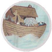Noah's Ark Round Beach Towel