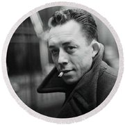 Nobel Prize Winning Writer Albert Camus Paris 1944 - 2015           Round Beach Towel