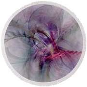 Nobility Of Spirit - Fractal Art Round Beach Towel