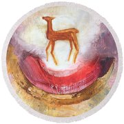 Noble Deer Round Beach Towel