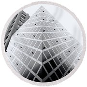 Round Beach Towel featuring the photograph Non-pyramidal by Wayne Sherriff