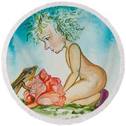 Nonie Of The Whimsical And Magickal Realm No. 2285 Round Beach Towel