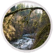 Round Beach Towel featuring the photograph Nooksack River by Yulia Kazansky