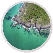 Round Beach Towel featuring the photograph Noosa National Park by Keiran Lusk