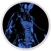 Nordic Warrior Round Beach Towel
