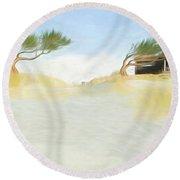 Noredney 8 Round Beach Towel