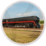 Norfolk And Western J-class 611 Round Beach Towel
