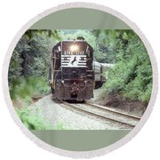 Norfolk Southern Passenger Excursion Round Beach Towel