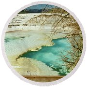 Norris Hot Spring Round Beach Towel