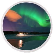 Norrsken 3 Round Beach Towel by Thomas M Pikolin