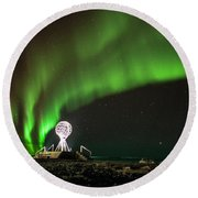 Norrsken Round Beach Towel by Thomas M Pikolin