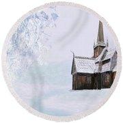 Norsk Kirke Round Beach Towel