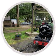 North Bay Railway Round Beach Towel