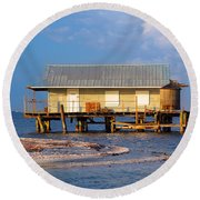 North Captiva Island Last Stilt House Standing Round Beach Towel