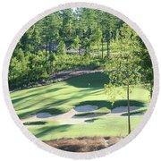 North Carolina Golf Course 12th Hole Round Beach Towel