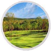 North Carolina Golf Course 14th Hole Round Beach Towel