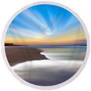 North Carolina Natural Beauty  Round Beach Towel