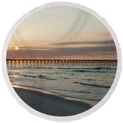 North Carolina Sunrise Round Beach Towel