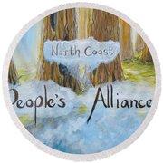 North Coast People's Alliance Round Beach Towel
