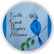 North Coast People's Alliance With Bernie Round Beach Towel