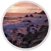 North Coast Sunset Round Beach Towel