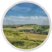 North French Scenery Round Beach Towel