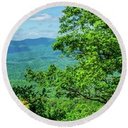 North Georgia Mountains Round Beach Towel