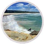 North Haven Beach By Kaye Menner Round Beach Towel