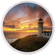 North Head Dreaming Round Beach Towel