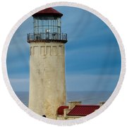 North Head Lighthouse Round Beach Towel by E Faithe Lester