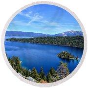 North Lake Tahoe Round Beach Towel by Serena King