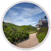 Round Beach Towel featuring the photograph North Light by Robin-Lee Vieira