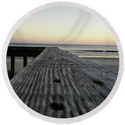 Round Beach Towel featuring the photograph North Myrtle Beach Evening by Robert Knight