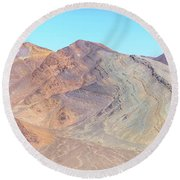 Round Beach Towel featuring the photograph North Of Avawatz Mountain by Jim Thompson