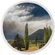 Round Beach Towel featuring the photograph North Of Glenorchy by Gary Eason
