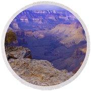 North Rim Grand Canyon Round Beach Towel