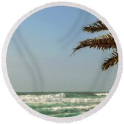 North Shore Waves Round Beach Towel