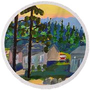 North Shore Round Beach Towel by Rodger Ellingson