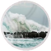 North Shore Swell Round Beach Towel