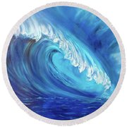 North Shore Wave Oahu 2 Round Beach Towel by Jenny Lee