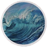 North Shore Wave Oahu Round Beach Towel