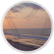 North Topsail Beach Glory Round Beach Towel